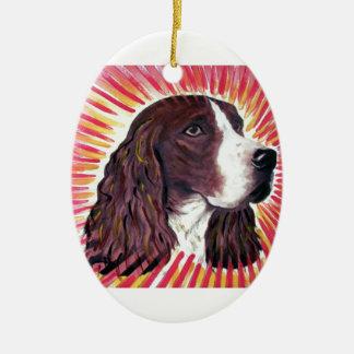 English Springer Spaniel Ceramic Oval Decoration