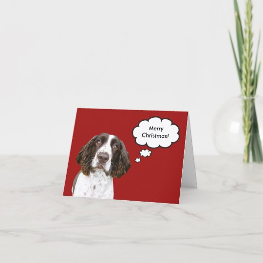 PERSONALISED SPRINGER SPANIEL DOG BIRTHDAY ANY OCCASION CARD Illustrated Insert