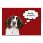 English Springer Spaniel Christmas Card