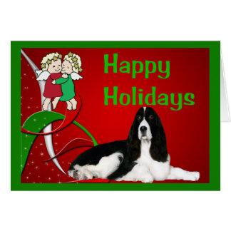 English Springer Spaniel Christmas Card Angels