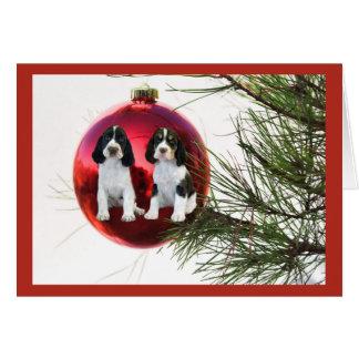 English Springer Spaniel Christmas Card Ball