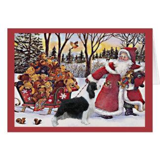 English Springer Spaniel Christmas Card Bears