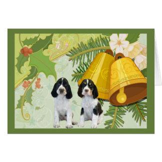 English Springer Spaniel Christmas Card Bells