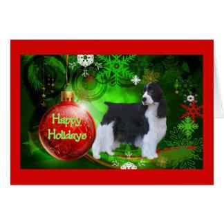 English Springer Spaniel Christmas Card Happy Holi
