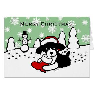 English Springer Spaniel Christmas Cartoon Cards
