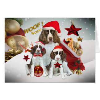 English Springer Spaniel Christmas Decorations Card