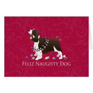 English Springer Spaniel Christmas Design Card