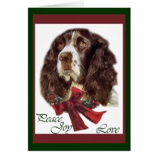 English Springer Spaniel Christmas Gifts Card