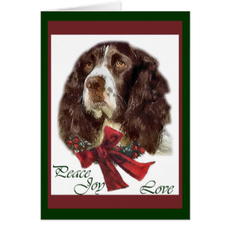 English Springer Spaniel Christmas Gifts Greeting Card