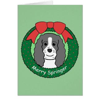 English Springer Spaniel Christmas Greeting Card