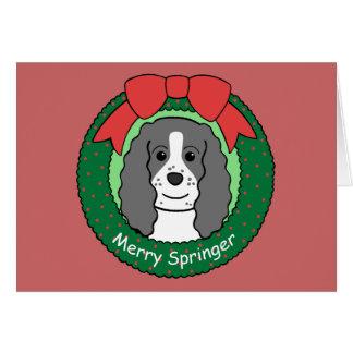 English Springer Spaniel Christmas Note Card
