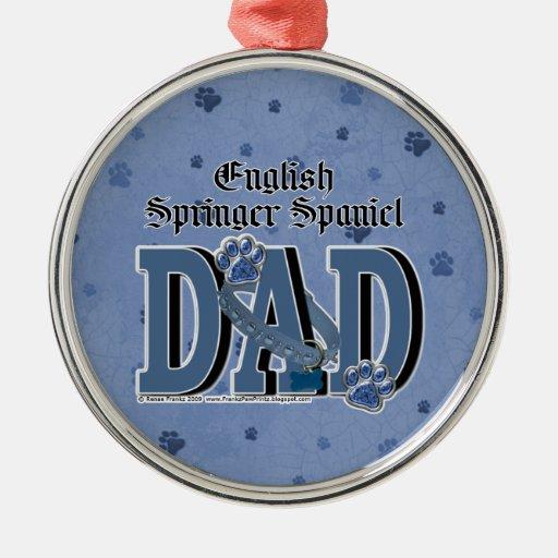 English Springer Spaniel DAD Ornament