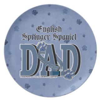 English Springer Spaniel DAD Dinner Plate