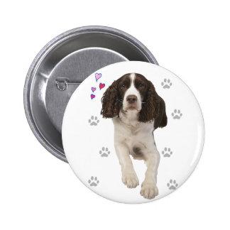 English Springer Spaniel Dog 6 Cm Round Badge