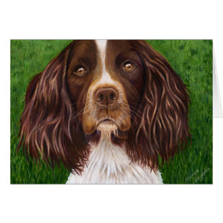 English Springer Spaniel Dog Art - Major Card