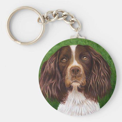 English Springer Spaniel Dog Art - Major Keychains
