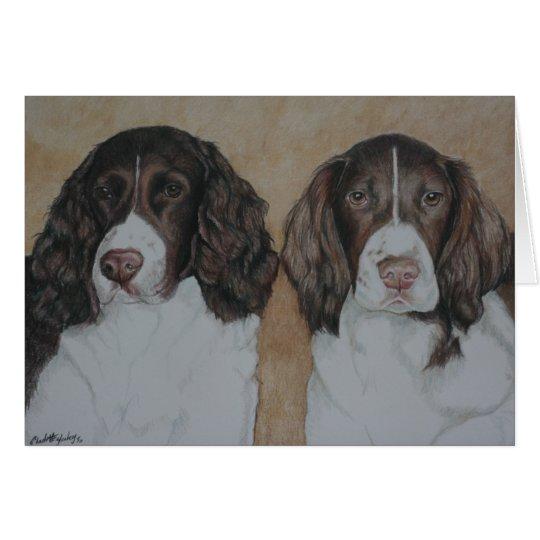 English Springer Spaniel Dog Art Notecard