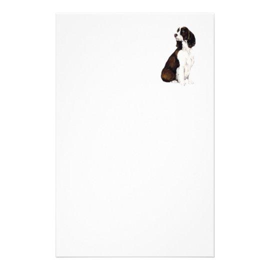 English Springer Spaniel Dog Art Stationery