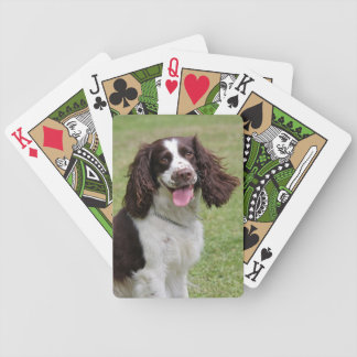 English Springer Spaniel dog beautiful photo Bicycle Playing Cards