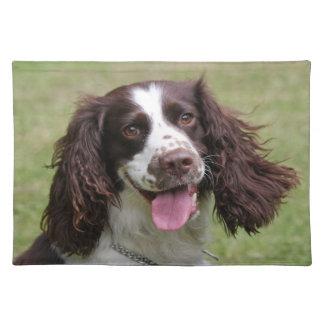 English Springer Spaniel dog beautiful photo, gift Place Mats
