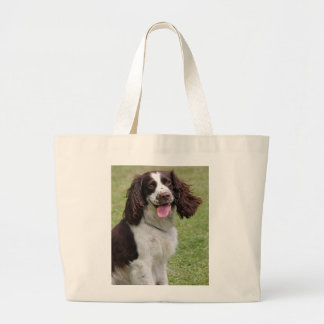 English Springer Spaniel dog beautiful photo, gift Large Tote Bag