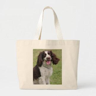 English Springer Spaniel dog beautiful photo, gift Large Tote Bag