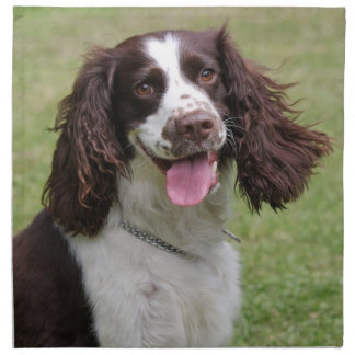 English Springer Spaniel dog beautiful photo, gift Printed Napkin