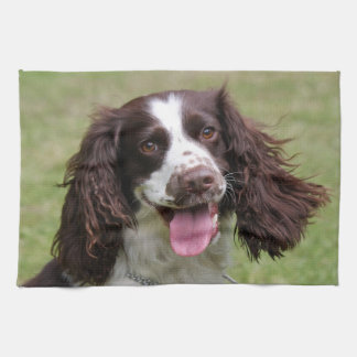 English Springer Spaniel dog beautiful photo gift Hand Towel