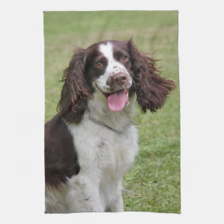 English Springer Spaniel dog beautiful photo, gift Hand Towel