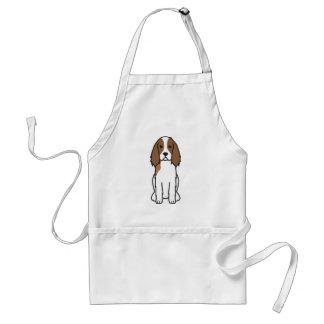 English Springer Spaniel Dog Cartoon Aprons