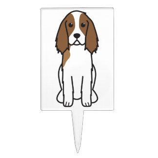 English Springer Spaniel Dog Cartoon Cake Picks