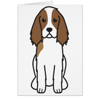 English Springer Spaniel Dog Cartoon Card