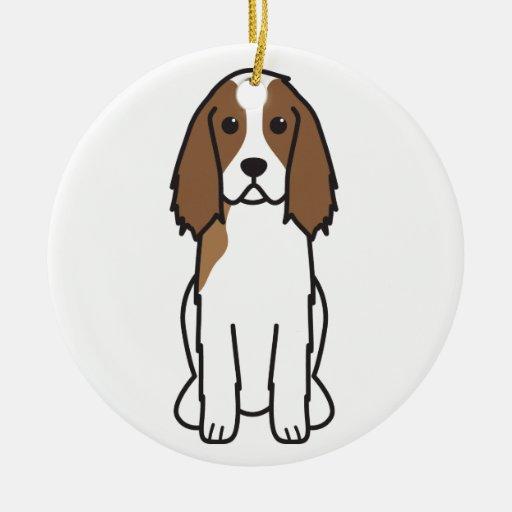 English Springer Spaniel Dog Cartoon Christmas Tree Ornaments