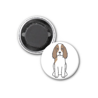 English Springer Spaniel Dog Cartoon Magnet