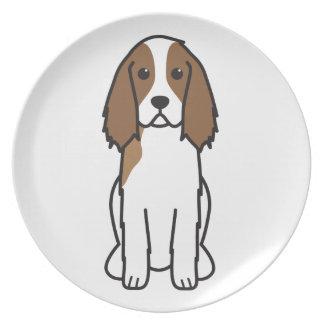 English Springer Spaniel Dog Cartoon Dinner Plates