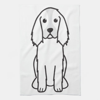 English Springer Spaniel Dog Cartoon Towel