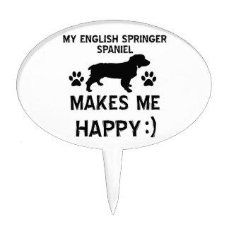 English Springer Spaniel dog designs Cake Topper