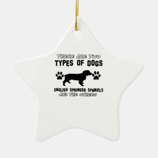 English Springer Spaniel dog designs Ceramic Star Decoration