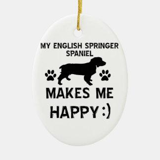 English Springer Spaniel dog designs Ornament