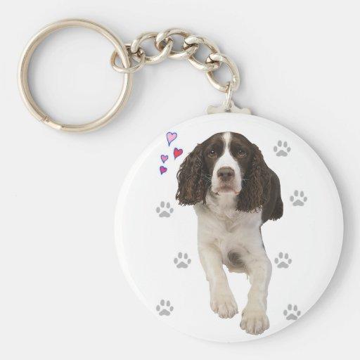 English Springer Spaniel Dog Keychains