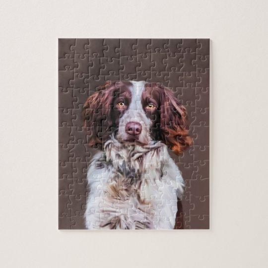 English Springer Spaniel Dog Oil Painting Portrait Jigsaw