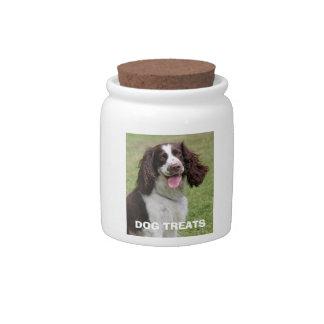 English Springer Spaniel dog photo dog treats jar Candy Jars