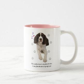 English Springer Spaniel Dog Two-Tone Mug