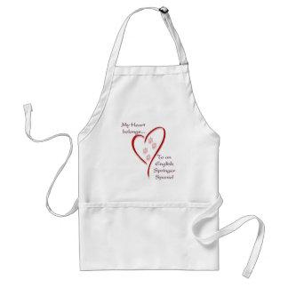 English Springer Spaniel Heart Belongs Adult Apron