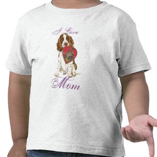 English Springer Spaniel Heart Mom T Shirts