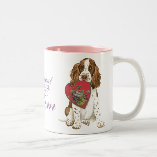English Springer Spaniel Heart Mum Two-Tone Coffee Mug
