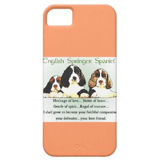English Springer Spaniel Heritage of Love iPhone 5 Cases
