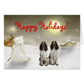 English Springer Spaniel Holiday Card