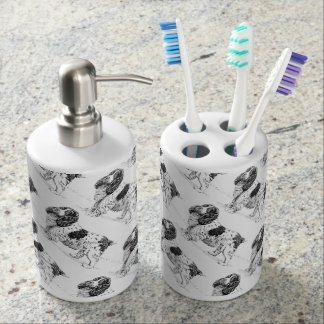English Springer Spaniel | Hunting Bird Dogs Soap Dispenser And Toothbrush Holder
