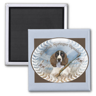 English Springer Spaniel Hunts Magnet